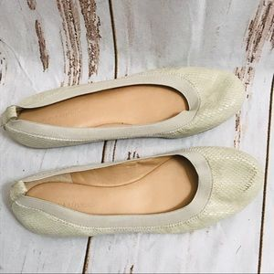 Banana Republic Cream Ivory Slip On Flats Shoes